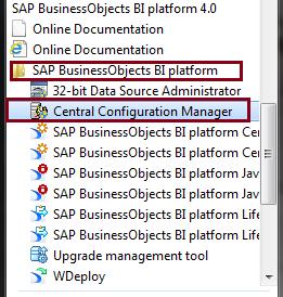 BO BI 4.0 Server programs
