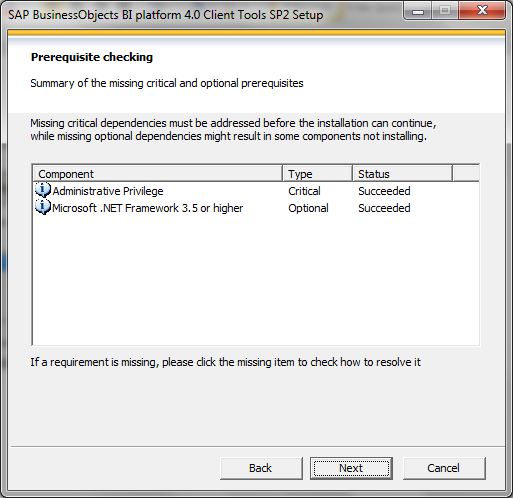 SAP BI 4.0 client tools installation2
