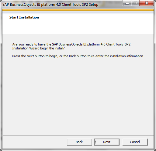 SAP BI 4.0 client tools installation9